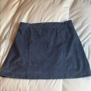NWOT Abercrombie and Fitch faux suede skirt